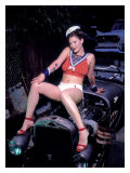 V8 Sailor Pin Up Girl Poster