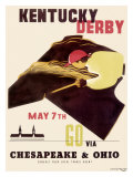 Kentucky Derby Horse Racing Poster