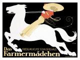 Farmermadchen Equestrian Horse Poster