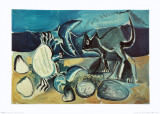 Cat and Crab on the Beach, 1965 Reproduction d'art par Pablo Picasso