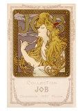 Mucha Nouveau Job Calendar Poster