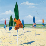 Tied Beach Umbrellas