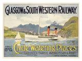 Glasgow Railway Steamship Poster