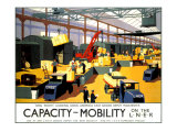 Capacity/Mobility on the LNER  LNER Poster  1933