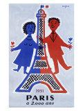 1951, Paris a 2.000 Ans Giclée par Raymond Savignac