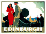 Edinburgh: Mons Meg  LNER Poster  circa 1935