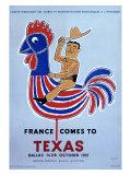 France comes to Texas, 1957 Giclée par Raymond Savignac