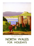 The Conway Estuary  North Wales  LMS Poster  1923