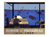 Power &amp; Progress on the LNER  LNER Poster  1930