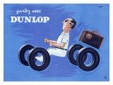 Dunlop Tires Giclée par Raymond Savignac