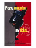 Please Remember My Ticket  BR Poster  circa 1950s