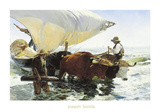 Retorno de la Pesca  Remolcando la Barca
