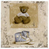Nounours Bleu et Chaussures