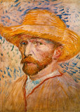 Self-Portrait with Straw Hat  c1887