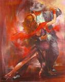 Tango argentin II Reproduction d'art par Pedro Alvarez