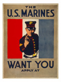 The US Marines Want You  circa 1917