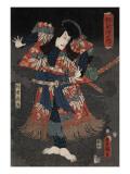 Ichikawa Danj-Ro VIII in a Scene from the Play Raigo Ajari Kaisoden