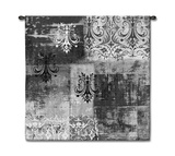 Abstract Damask Brushed Steel Square