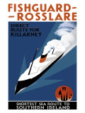 Fishguard-Rosslare  artwork for GWR  1932