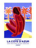 La Côte d'Azur Giclée par Bernard Villemot