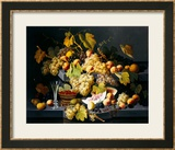 Still Life with Fruit and a Glass of Champagne