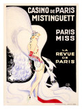 Casino de Paris, Mistinguett Giclée par Zig (Louis Gaudin)