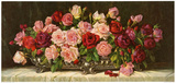 Rosen in Silberner Schale