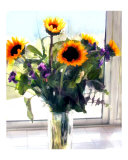Sunflower Arrangement in Window