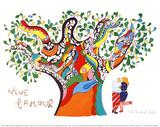 Vive l'amour Reproduction d'art par Niki De Saint Phalle