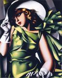 Jeune fille en vert Reproduction d'art par Tamara De Lempicka