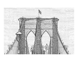 Brooklyn Bridge as a Charcoal Drawing