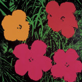 Flowers  1964 (Red  Pink and Yellow)