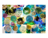 Colored Blown Glass Collage