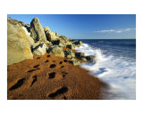 Footsteps on a Beach  Isle of Wight  England