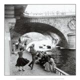 Rock 'n Roll sur les quais de Paris Reproduction d'art par Paul Almasy