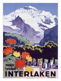 Swiss Alps, Interlaken Giclée