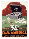 Portable Phonograph  Casa America