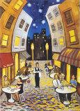 Nighttime Cafe