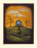 Primitive Blue House