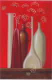 Elderflowers Against Red Background