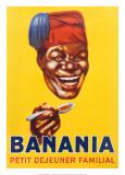 Banania, petit déjeuner familial Reproduction d'art