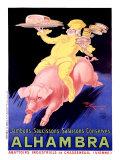 Jambons, saucissons, salaisons, conserves Alhambra Giclée par Henry Le Monnier
