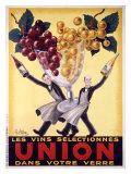 Les Vins Selectionnes Union Giclée par Robys (Robert Wolff)