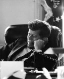 President John F Kennedy in the Oval Office