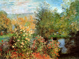 Coin de jardin à Montgeron Reproduction d'art par Claude Monet