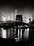 Night View of the Brooklyn Bridge