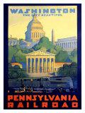 Chemin de fer de Pennsylvanie/Washington Giclée par Grif Teller