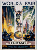 Foire internationale de Chicago, 1933 Reproduction d'art par Glen C. Sheffer