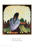 The Flower Seller, c.1942 Reproduction d'art par Diego Rivera