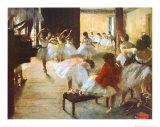 L'école de danse Reproduction d'art par Edgar Degas